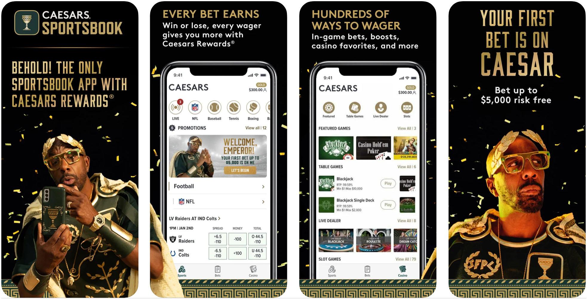 Caesars Sportsbook, App Store