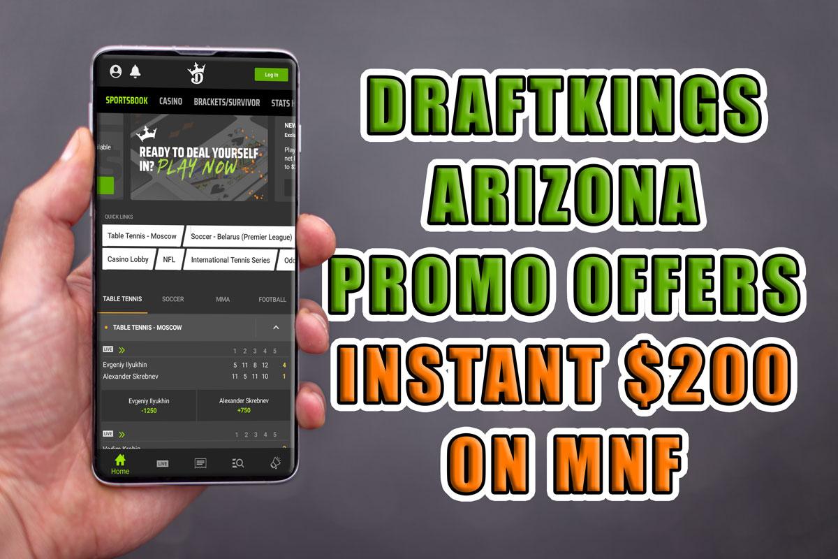 draftkings arizona mnf promo