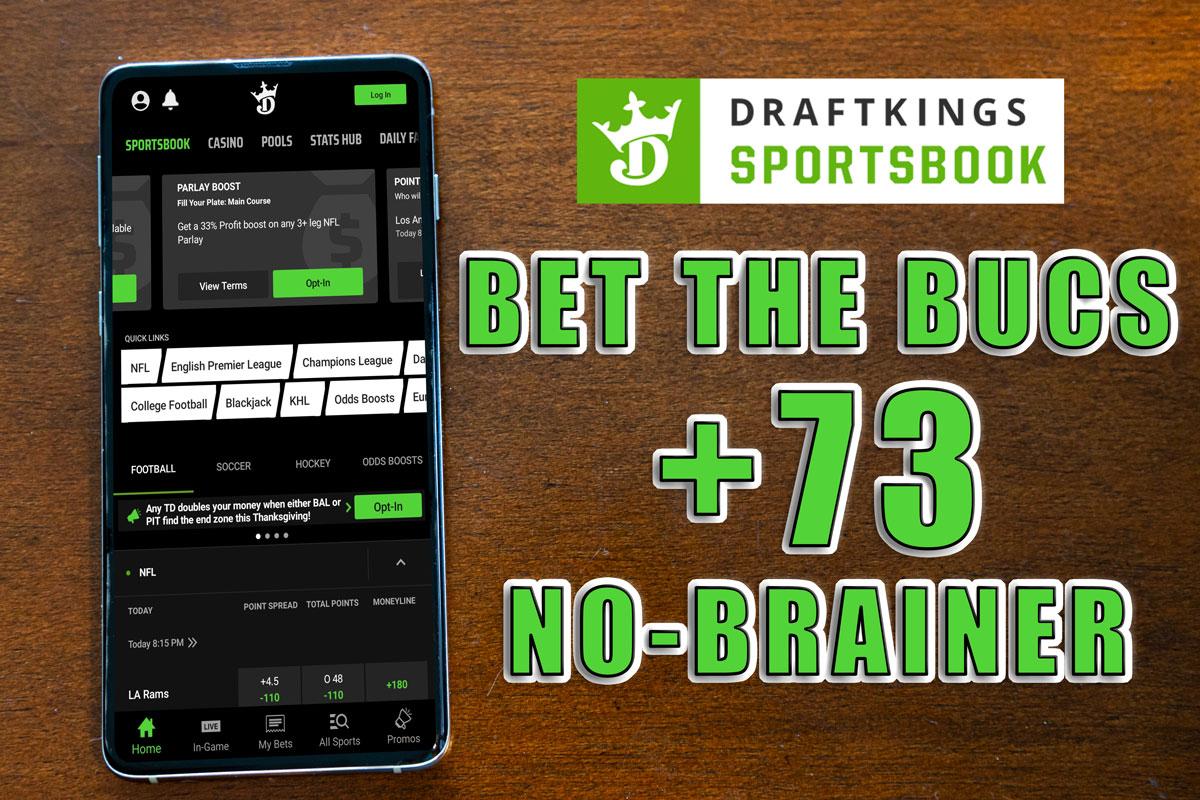 draftkings sportsbook bucs 73 promo