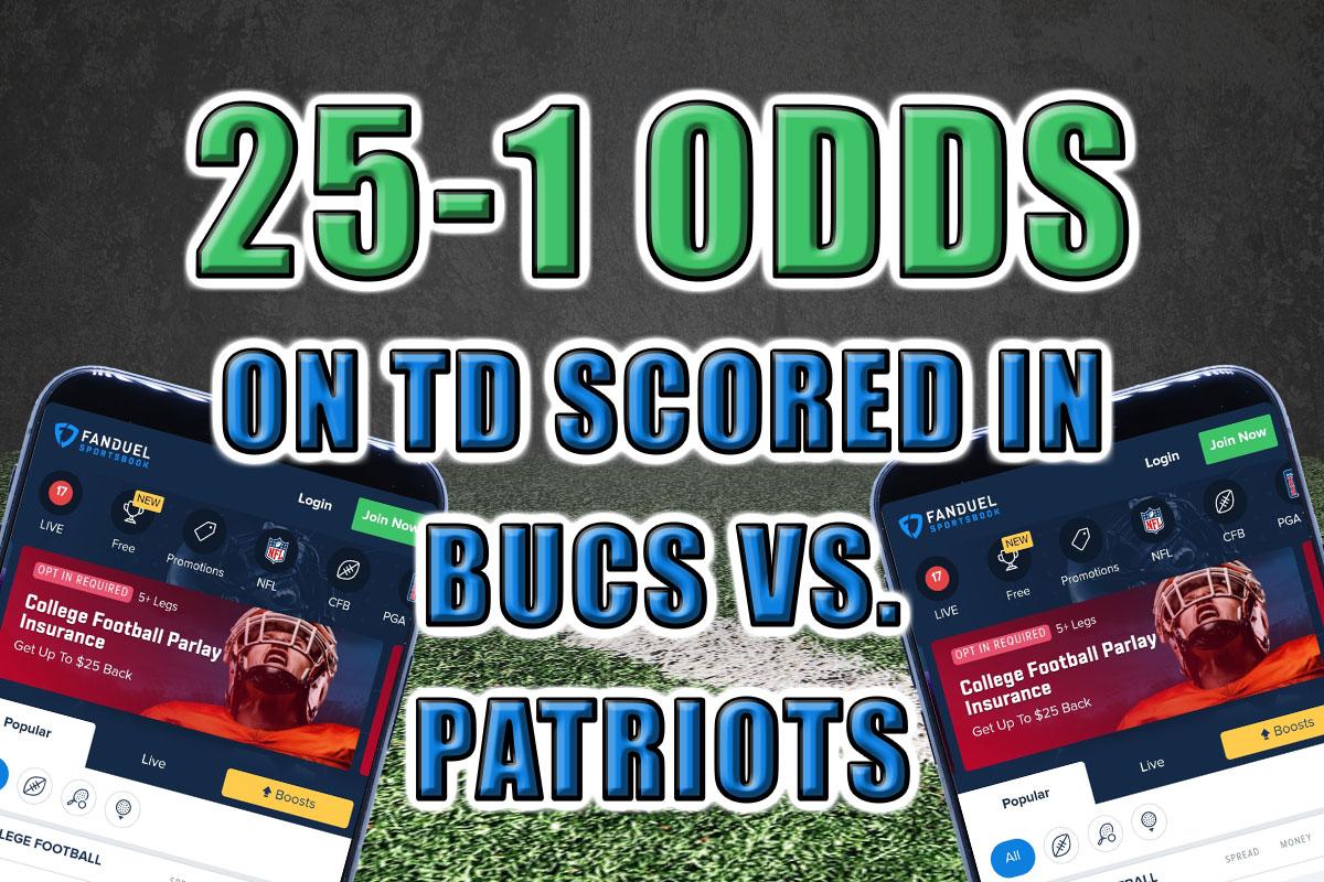 FanDuel Sportsbook GOAT Boost promo Buccaneers Patriots