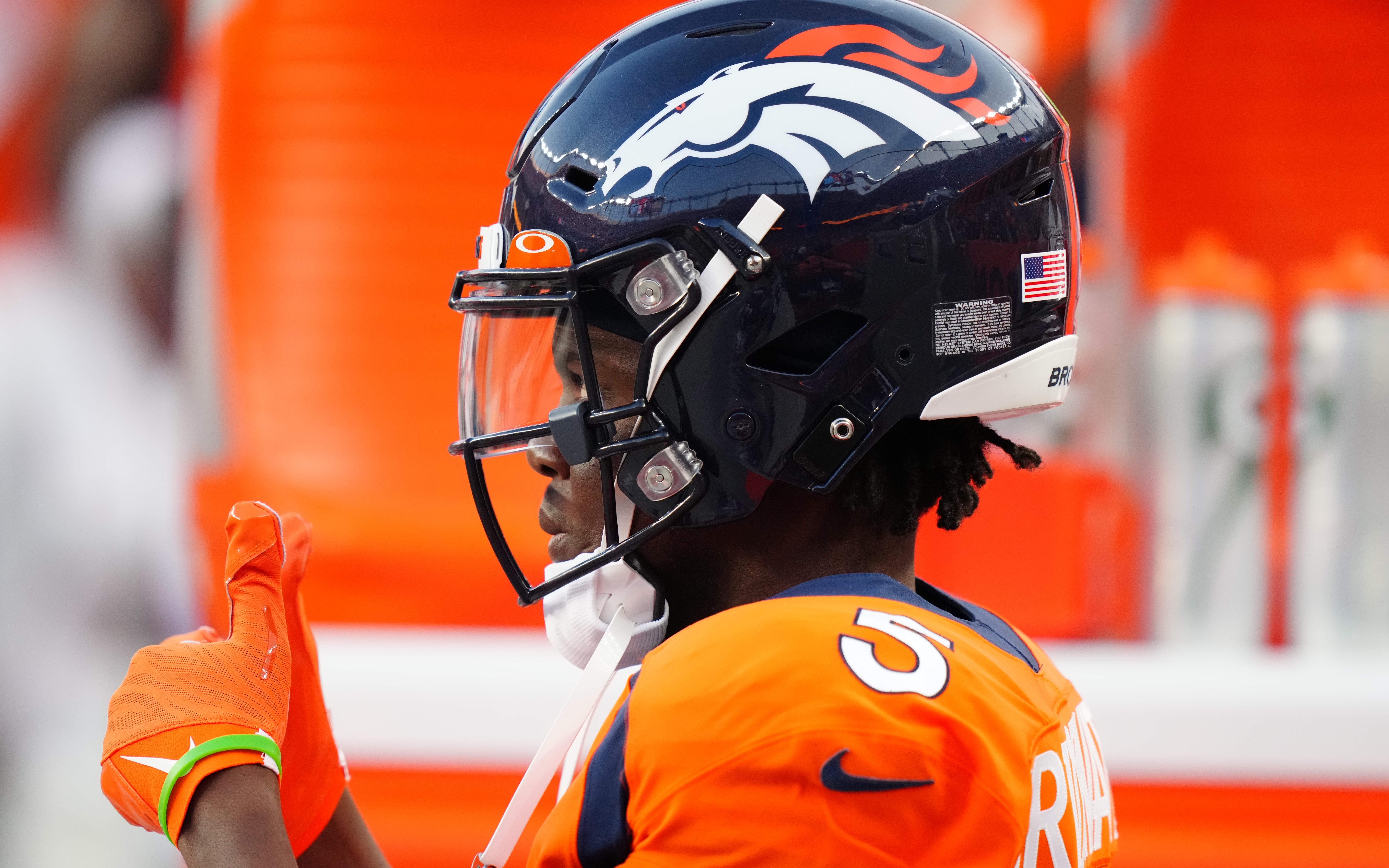 Teddy Bridgewater before Broncos' final preseason game. Credit: Ron Chenoy, USA TODAY Sports.
