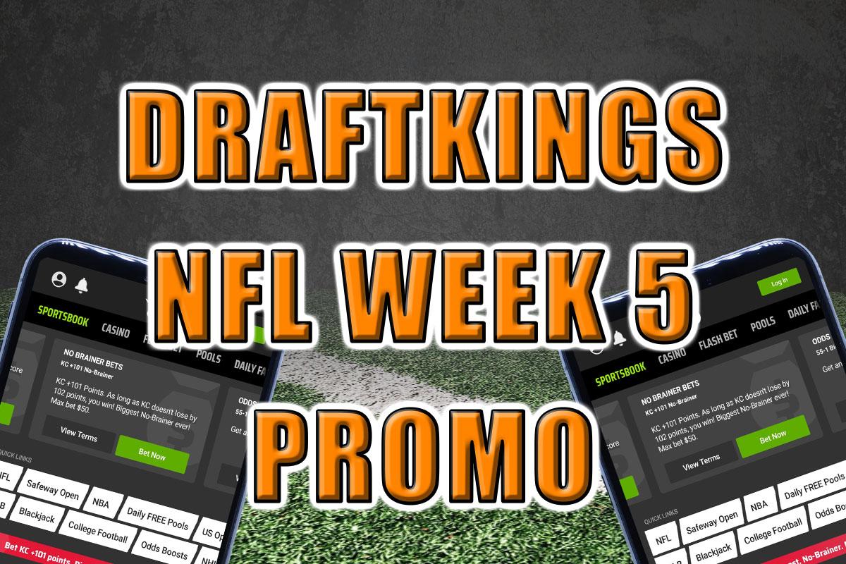 DraftKings Sportsbook Promo NFL Week 5